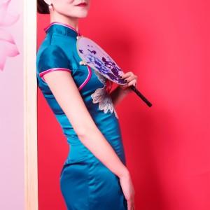 中年女性旗袍写真