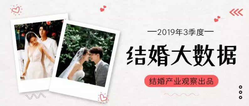 《2019年3季度結婚大數據》