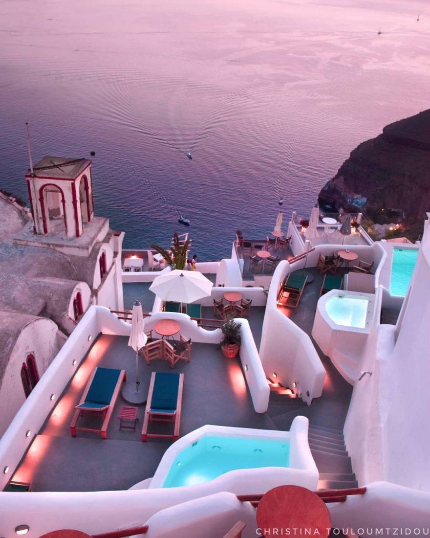 祥和安静的街想到这里头小景你自己选吧 唯美的希腊小巷