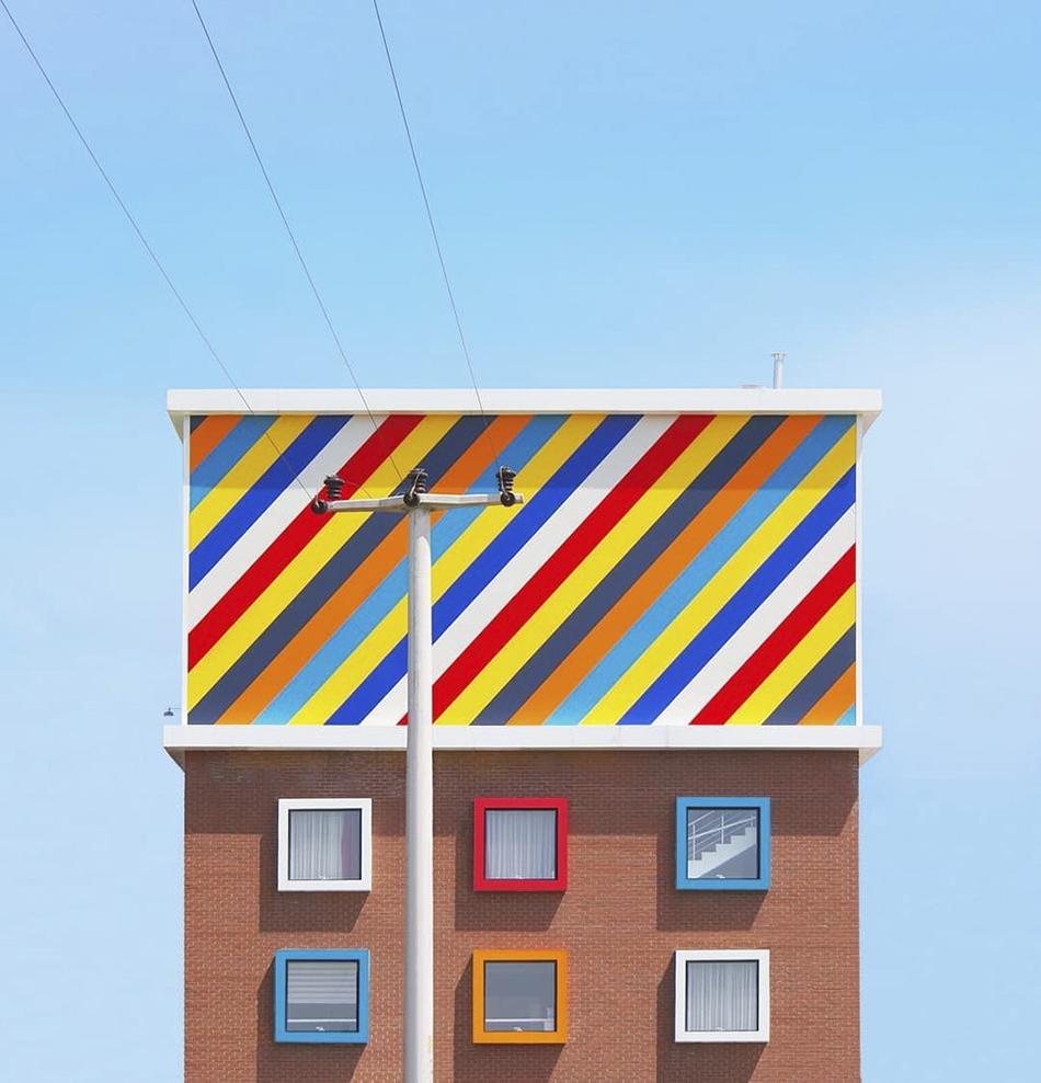 都市的色彩畫卷 城市空間的極簡風視覺