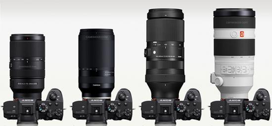 騰龍70-300mm FE鏡頭體積對比