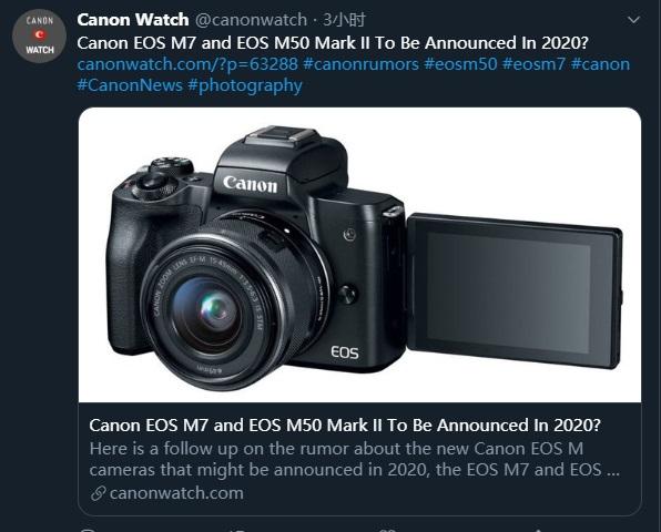 曝佳能将推出旗舰APS-C画幅相机EOS M7,3250万像素